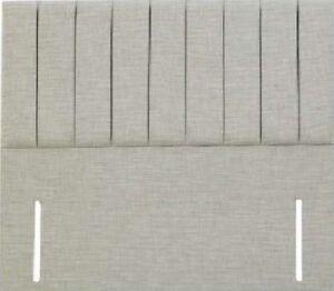 "Grey Chenille Fabric Elegant Design Floor Standing Clarence Headboard 50"" High"
