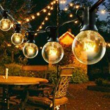 More details for 100ft outdoor festoon globe string fairy lights plug in g40 bulbs garden wedding