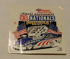 NHRA DRAG RACING 1997 43RD ANNUAL US NATIONALS INDIANAPOLIS DECAL/STICKER