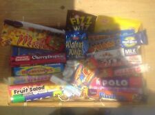 Retro sweets basket - old school sweets, dip dab, fizzers, sherbet fountain,wham
