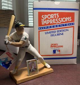 Sports Impressions Mark McGwire Oakland A's Baseball Figure 1990 with box & COA