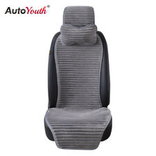 New Winter Nano Velvet Car Seat Cover With Headrest Seat Cushion Protector Gray