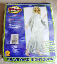 Adult Halloween Costume Graveyard Nightgown Zombie Bride Dress White Women Large