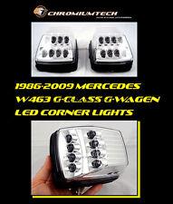 Mercedes W463 G-CLASS G-Wagen Clear CHROME LED Side Lamp Lights Corner Lights