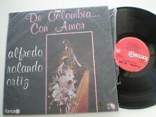 ALFREDO ROLANDO ORTIZ De Colombia Con Amor COLOMBIA LP CODISCOS 197? Harp Latin