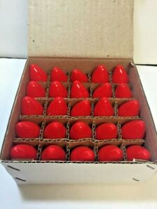 25 C7 Red Christmas Replacement Light Bulbs from The Grinch movie new old stock