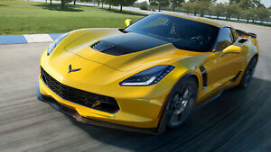"New 2015 Chevrolet Corvette Z06 Auto Car Art Silk Wall Poster 24x36"""
