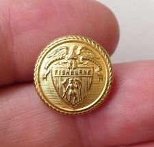 Fishburne Military Academy Hat Chin Strap Size Button Waterbury Co`s Inc Conn