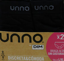 Unno M302- Braga alta de Señora sin costuras negro L/xl
