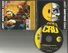 CRU & SLICK RICK Just another case 3TRX REMIX & INSTRUMENTAL GOLD STAMP PROMO CD