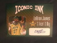 Lebron James🔥 Aceo Facsimile Autograph Custom * College Card - Irish