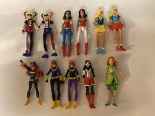 Lot Of 11 DC SUPER HERO GIRLS ACTION FIGURES HARLEY QUINN, Wonder Women,