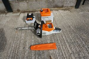 """Sthil MSA 200 C battery chainsaw (14"""" bar) with new AP200 battery and charger"""