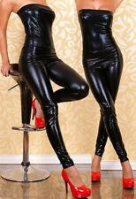 Jumpsuits Bodysuit PVC Leather Wetlook Catsuit Catwoman Teddies Costume Clubwear