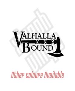 Valhalla Bound Vikings vinyl sticker decal car ipad (Window Optional) nordic