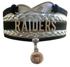 Oakland Raiders Football Infinity Bracelet Jewelry Apparel