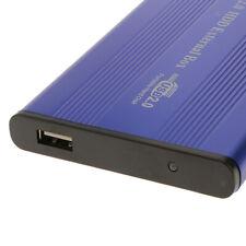 "USB2.0 Festplatte Externes Gehäuse 2,5 ""IDE HDD Disk-Fall-Kasten-Blau"