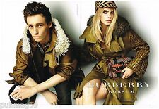Publicité Advertising 2012 (2 pages) Pret à porter vetements Burberry