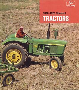 John Deere 3020 4020 Tractor Brochure 1964 to 1972
