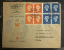 1948 Bandoeng Netherlands Indies Airmail First Day Cover FDC to San Francisco Us