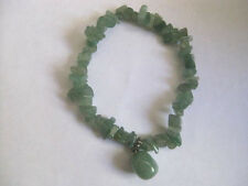 Vintage Green Genuine Jade or jadite Stretch Bracelet
