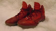 Nike Zoom Hyperfuse 2011 SPRM Red Silver Basketball Shoes 469757-600 Men's 12