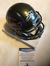 Emmitt Smith Autographed Florida Gators Swamp mini helmet Beckett Witnessed COA
