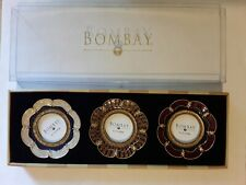 "Enameled Flower Frames. Set Of 3.Bombay Co. 2 "" × 2 "" . Very Attractive.Pictures"