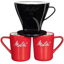 Melitta D'origine pour plus de café 1 X 4 Filtres Cône & porcelaine tasses deux sorties