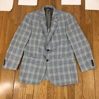 Brooks Brothers 346 Unstructured Blazer 40R Madison Fit Linen Cotton Blend Great
