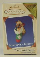 2003 Hallmark Mischievous Kittens Repaint Keepsake Ornament Register To Win MINT