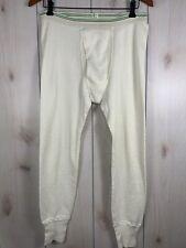 Vintage 70s Hanes Mens Large Thermal Knit Long Johns Pants Long Johns Vtg Usa