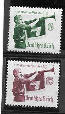 """GERMANY 3rd Reich 1935 stamps(2) in compl.set, """"Jamboree"""", Scouts, MNH"""