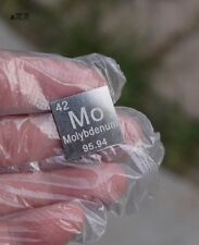 99.9% High Purity Molybdenum Metal MO 2.04g Carved Element Periodic Table 20mm