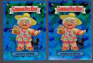 2020 Topps Garbage Pail Kids Chrome Sapphire Ancient Annie Wrinkled Rita 2 Lot