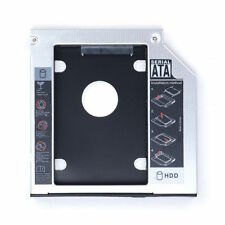 US 12.7mm Universal SATA 2nd HDD SSD Hard Drive Caddy for CD/DVD-ROM Optical Bay