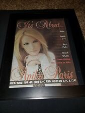 Anika Paris It's About Rare Original Radio Promo Poster Ad Framed!