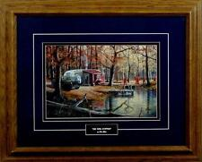 "Ken Zylla ""The Deer Hunters""  Hunting Camp Print-Framed 21"" x 17"""