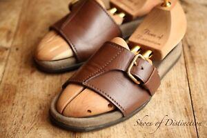 Prada Brown Leather Sandals Sliders Shoes UK 6.5 US 7.5 EU 40.5