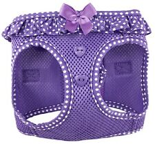 Doggie Design American River Purple Dots Ruffled Harness M