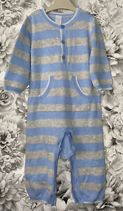 Boys 9-12 Months - Mini Club Fine Knitted Romper Suit