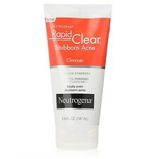 Neutrogena Rapid Clear Stubborn Acne Cleanser/Wash Max Strength 5oz USA IMPORT