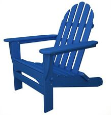 POLYWOOD AD5030-PB Classic Folding Adirondack in Pacific Blue NEW