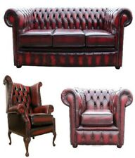 Chesterfield Sofagarnitur Cuir Tissu Chesterfield Set Complet Canapé Canapé 436