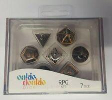 More details for oakie doakie dice - rpg set - metal dice, steampunk (7 dice, rpg set)