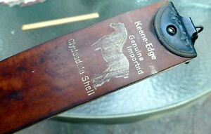 Keene Edge Razor / Barber Strop Hess Hair Milk Lab St Paul MN 2.5""