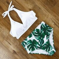 Halter Top Brazilian Bathing Suit High Waist Swimsuit Backless Bikini Beachwears