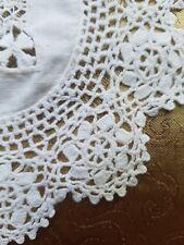 A36 Antique Doily Crochet Lace Small Round Home Decor Dollhouse Rug Prim Blythe