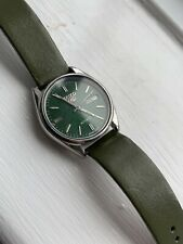 Seiko 5 automatic 6309 Men's Watch Green Vintage Leather Strap