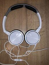 JVC HASR500W Foldable Lightweight Headphones with Mic - White